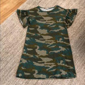 JCrew Camo Tee Dress